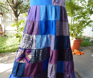etsy, long skirt, and ooak image