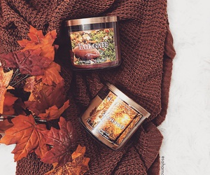candles, fall, and autumn image