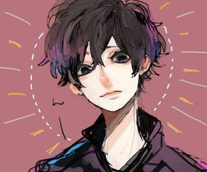 anime, black hair, and anime boy image
