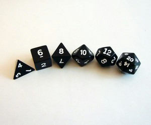 dice and dungeons and dragons image