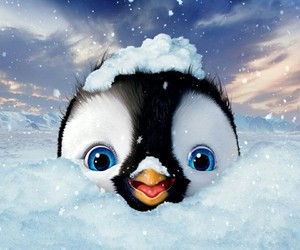penguin and snow image