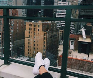 new york, city, and shoes image