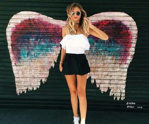 fashion, girl, and angel image