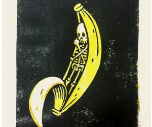 banana and skull image