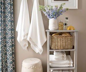 bathroom, decor, and living room image