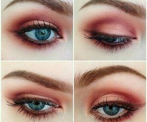 makeup, eyes, and grunge image