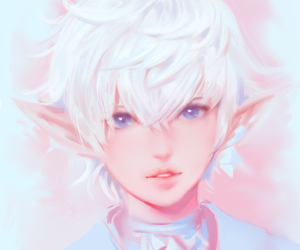 videogame, ffxiv, and whitehair image
