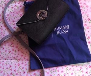 Armani, bag, and flouers image