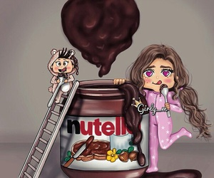 nutella, girly_m, and chocolate image