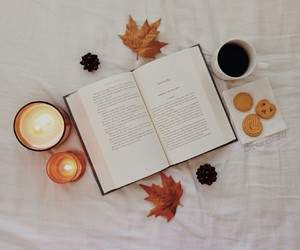 book, fall, and candle image
