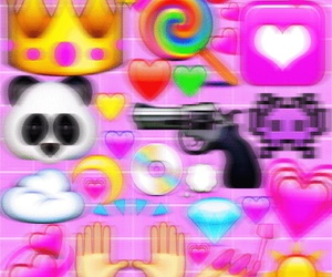 colorful, fancy, and pink image