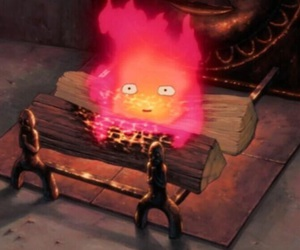 howl's moving castle, anime, and calcifer image