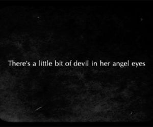 angel, Devil, and eyes image