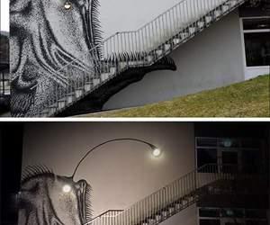 fish, graffiti, and home image