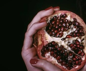 persephone, aesthetic, and pomegranate image
