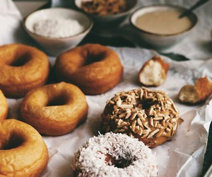 donuts, food, and delicious image