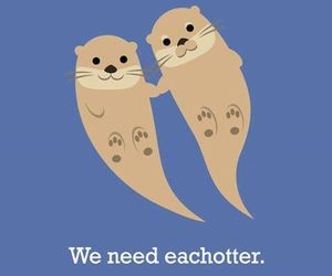 otter, puns, and quote image