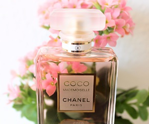woman, flowers, and chanel image