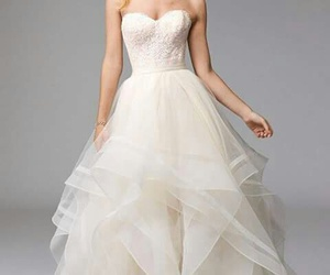 wedding dress, elegant, and luxury image
