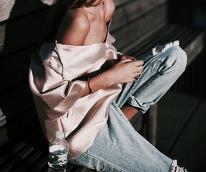 denim, fashion, and silk image