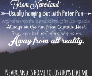neverland, lost boy, and peter pan image