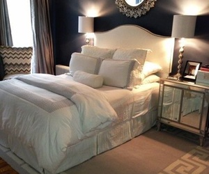 bedroom, bed, and luxury image