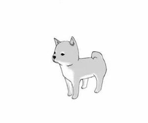 dog, manga, and puppy image