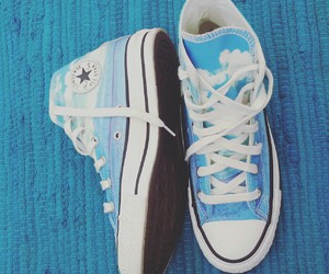 allstar, blue, and converse image