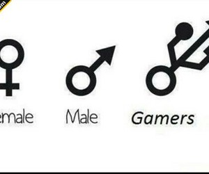 female, male, and funny image