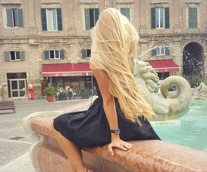 girl, hair, and blond image