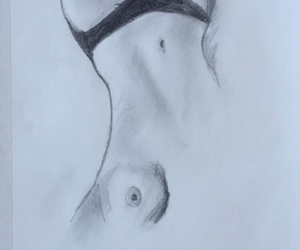 body, pencil, and boobs image