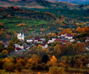 autumn, transylvania, and village image