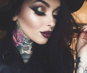makeup, tattoo, and beauty image