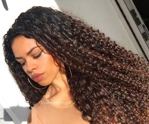 curly, goals, and hair image