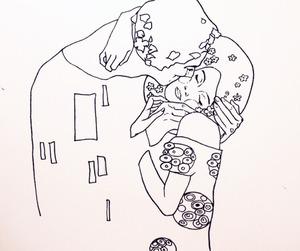 art, klimt, and love image