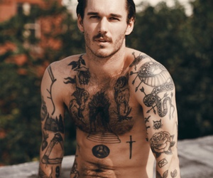 boy, tattoo, and man image