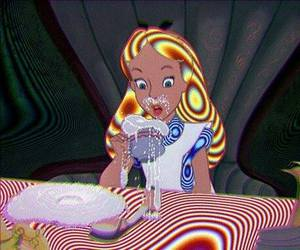 alice, drugs, and alice in wonderland image