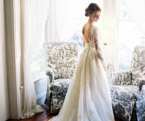 classy, dress, and wedding dress image