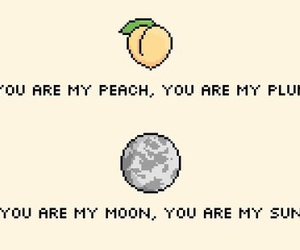 moon, peach, and quote image