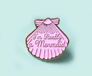 mermaid, pink, and pastel image