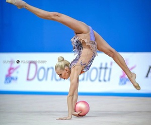 ball, rhythmic gymnastics, and gymnast image