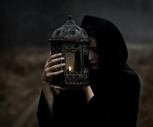 witch, candle, and dark image