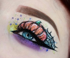 Halloween, makeup, and makeup art image