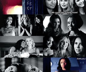 elena gilbert, caroline forbes, and bonnie bennett image