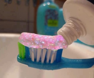 pink, galaxy, and toothpaste image