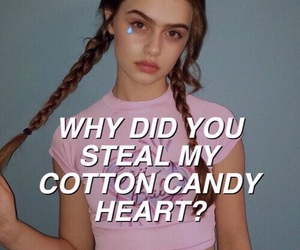 candy, cotton, and frases image