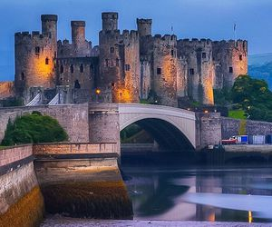 bridge, castle, and castles image