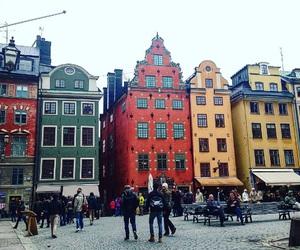 red, stockholm, and sweden image