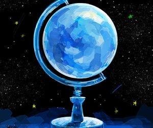 blue, art, and stars image