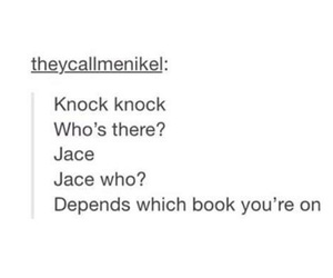 jace, the mortal instruments, and books image